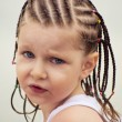 Little girl with dreadlocks - Stok fotoğraf
