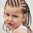 Little girl with dreadlocks - 图库照片