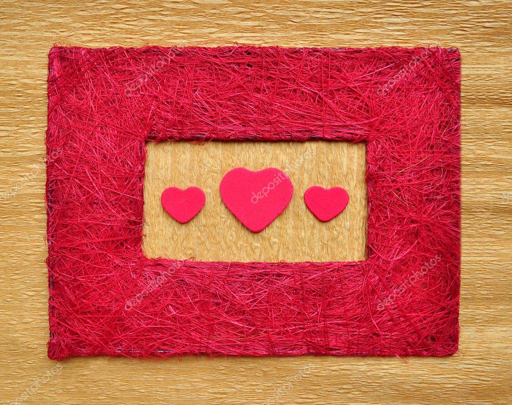 love heart borders. Valentine love heart inside