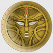 Stock Photo: Golden avatar, coin, mask or signet. Magic Logo or icon.