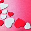Love hearts background — Stock Photo
