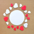 Circle hearts border — Stock Photo