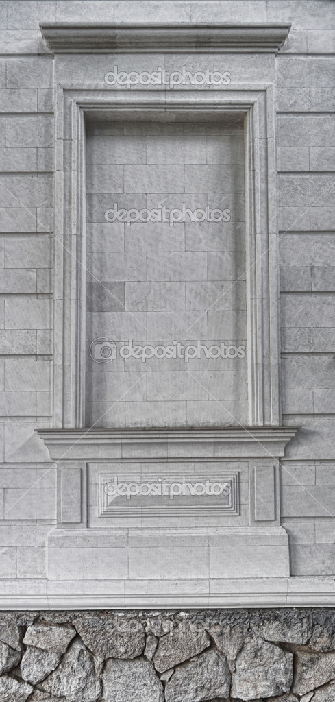 Wall niche empty with antique frame border texture.  — Stock Photo #5904324
