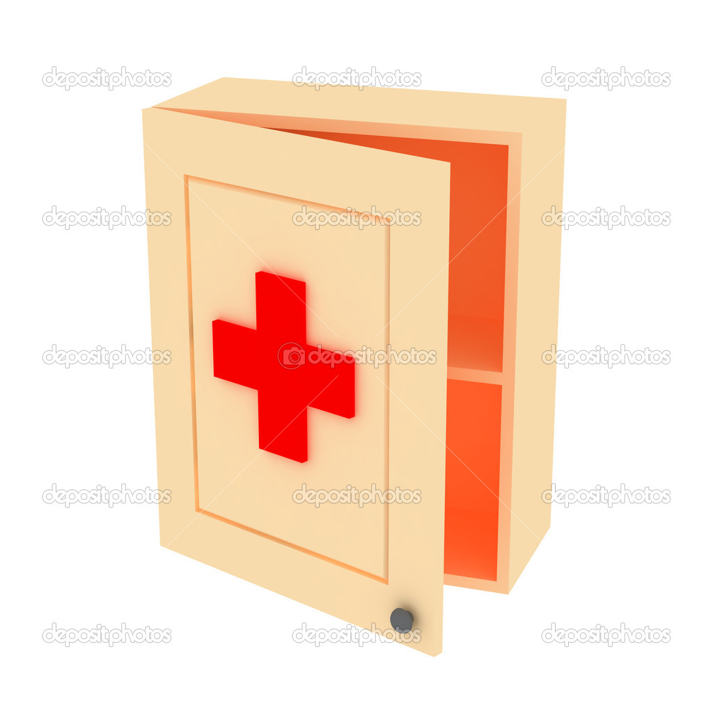 Red Cross Medicine Cabinet