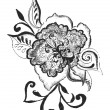 Abstract flower design sketch paint ornate - Foto Stock