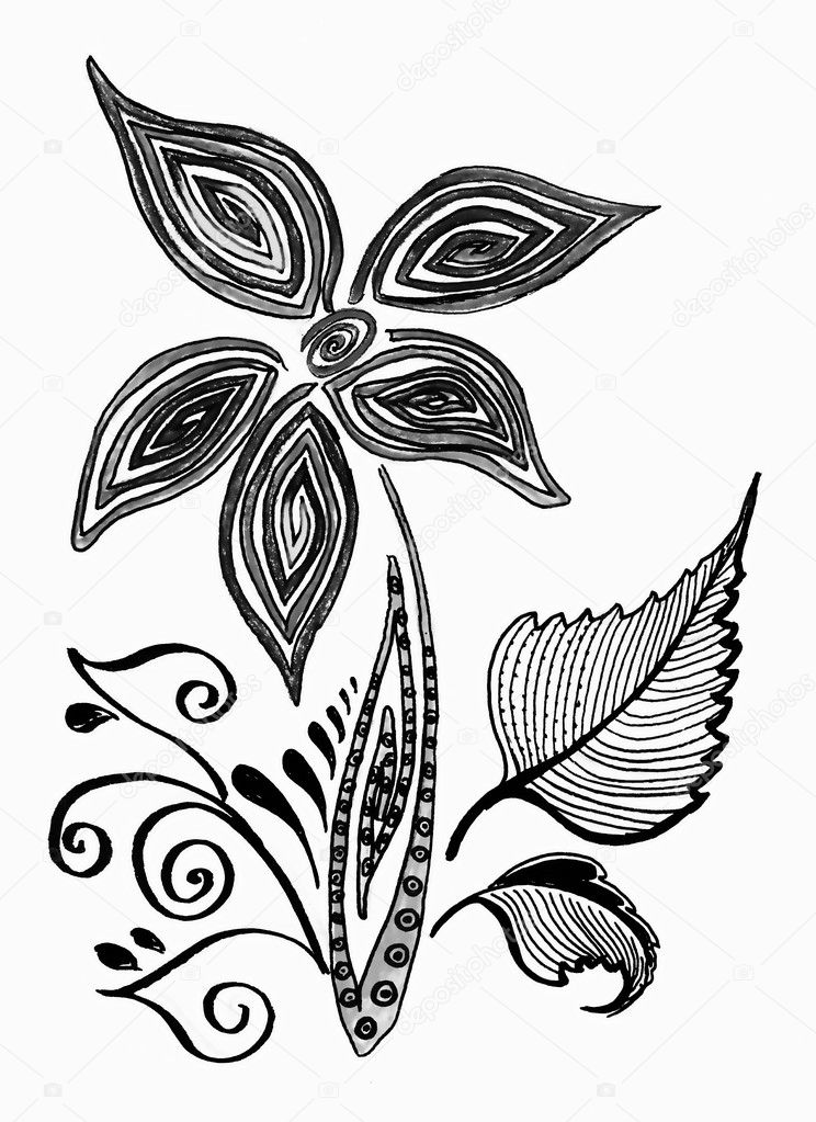Easy Black And White Flower Design Easy Flower Designs
