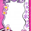 Wedding or little princess drawing empty frame border — Stock Photo