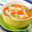 Stock Photo: Chicken soup with noodle