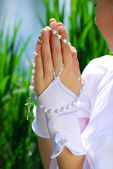 The first holy communion — Stock Photo