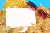 Karta lato wakacje — Zdjęcie stockowe