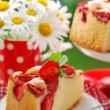 Royalty-Free Stock Photo: Piece of strawberry cake