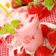 Strawberry milkshake — Stock Photo #5851373