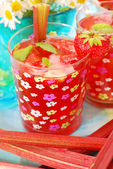 Strawberry and rhubarb compote — Stock Photo