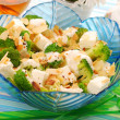 Salad with broccoli,feta and almonds - Stock Photo