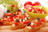 Italian bruschetta — Stock Photo