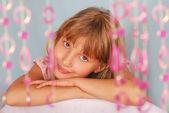 Young girl posing in studio — Stock Photo