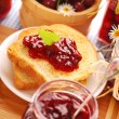 Toast with cherry confiture — Stock Photo #6110050