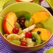 Bowl of muesli with fruits — Stock Photo