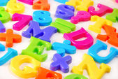 Colorful letters background — Stock Photo