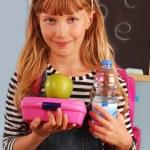 ������, ������: Schoolgirl with lunch box