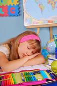 Estudante cansada — Fotografia Stock