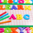 Learn abc background — Stock Photo #6450753