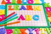 Learn abc background — Stock Photo