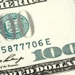 Hundred dollar banknote — Stock Photo