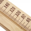 Wooden thermometer, sauna — Stock Photo
