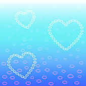 Heart bubbles — Stock Vector