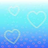 Hart bubbels — Stockvector