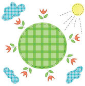 Checkered world — Stock Vector