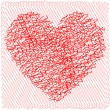 Scribbled heart — Stock Vector
