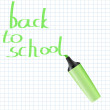 Back to school vector background with realistic marker — Stock Vector