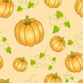 Halloween Seamless pumpkin pattern — Stock Vector