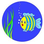 Vektor Cartoon Fisch — Stockvektor
