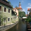 Cesky Krumlov castle view - Stock Photo
