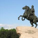 cavalier de bronze. St petersburg, Russie — Photo