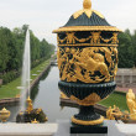 The Vase and Sampson Fountain, Grand cascade, Peterhof — Stock Photo #5626156