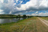 Summer landscape with river — Стоковое фото