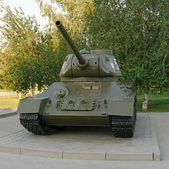 T-34. The Soviet medium tank. — Stock Photo