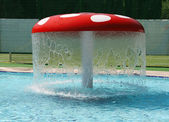 Mushroom. Swimming pool — Stock Photo