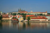 View on river and Prague castle — Stock Photo