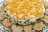 Salad 'Sunflower' — Stock Photo