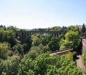 Adolphe bridge, Luxemburg city, Luxemburg — Stock Photo