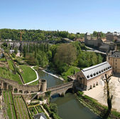 View from the Corniche. Best balcony in Europe. Luxembourg. — Stock Photo