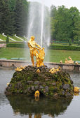 The Sampson Fountain, Grand cascade, Peterhof — Stock Photo