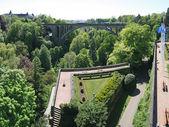 Adolphe bridge, Luxemburg city, Luxemburg — Stock Photo