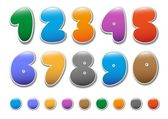 Decorative numbers set2 — Stock Vector