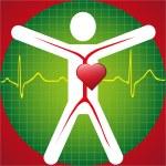 ola símbolo médico -ecg — Vector de stock